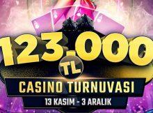 123.000 TL ödüllü canlı casino turnuvası